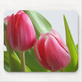 Cojín de ratón de los tulipanes tapete de ratones