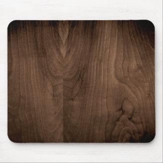 Cojín de ratón de madera de caoba profundo del gra tapete de ratón