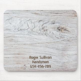 Cojín de ratón de madera de la textura tapete de ratón