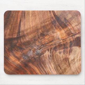 Cojín de ratón de madera del grano de la nuez tapete de raton
