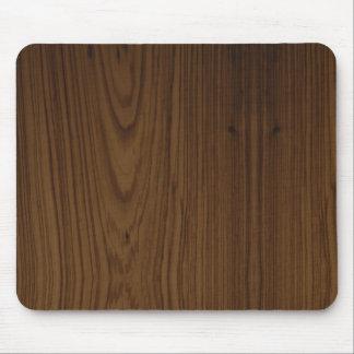 Cojín de ratón de madera del grano de la nuez alfombrillas de raton