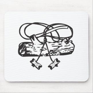 Cojín de ratón de madera del Hacha-n-Registro de l Mouse Pad