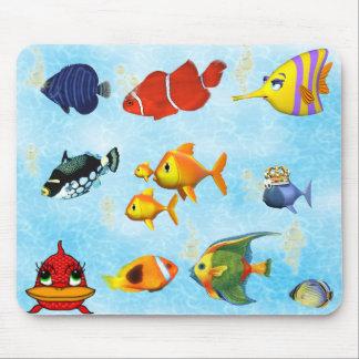 Cojín de ratón de Mousepad del acuario de los pesc Tapetes De Ratones