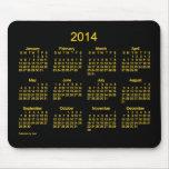 Cojín de ratón de neón del calendario del oro 2014 alfombrillas de raton