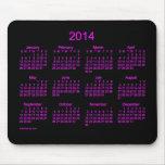 Cojín de ratón de neón del calendario del rosa 201 tapete de ratón