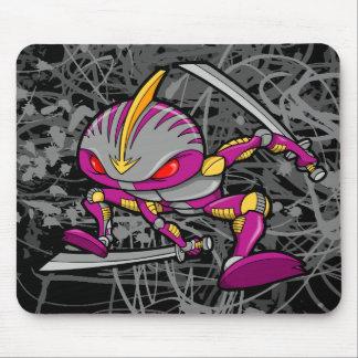 Cojín de ratón de Ninja del guerrero del Cyborg de Alfombrilla De Ratones
