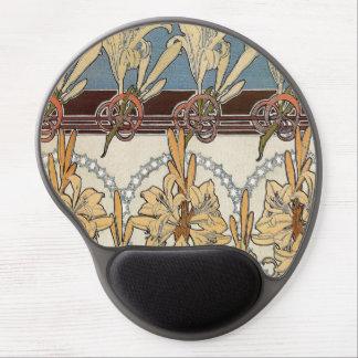 Cojín de ratón de Nouveau del arte Alfombrilla De Raton Con Gel