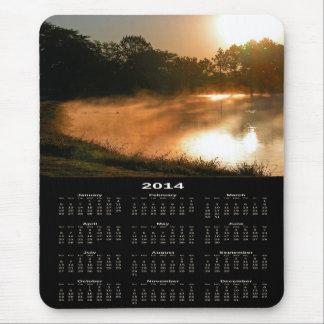 Cojín de ratón de oro de niebla del calendario de  alfombrillas de raton