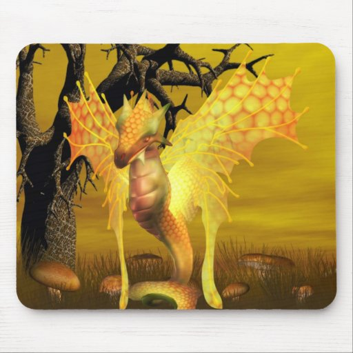 Cojín de ratón de oro del dragón mousepads