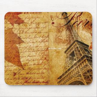 Cojín de ratón de París del vintage Tapete De Ratón