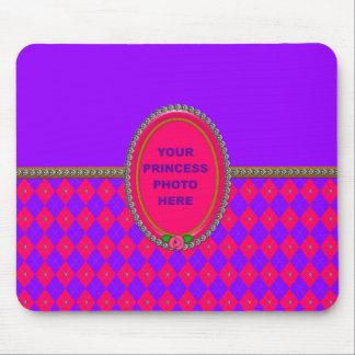 Cojín de ratón de princesa Argyle Photo Alfombrillas De Ratones