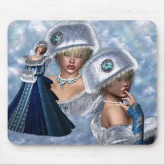 Cojín de ratón de princesa Collage de la nieve Alfombrilla De Raton