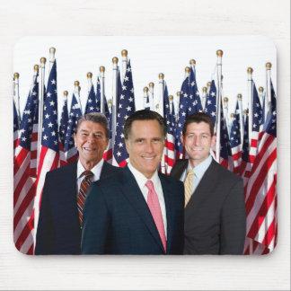 Cojín de ratón de Reagan Romney Ryan Tapetes De Raton