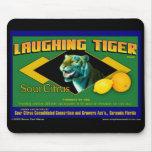 Cojín de ratón de risa de la fruta cítrica del tig tapetes de ratón