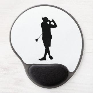 Cojín de ratón de Silouette del golf Alfombrilla De Ratón Con Gel