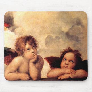 Cojín de ratón de Sistine Madonna de las querubes  Alfombrillas De Raton