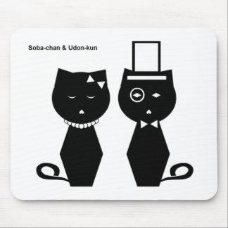 cojín de ratón de Soba-chan y del udon-kun Tapete De Raton