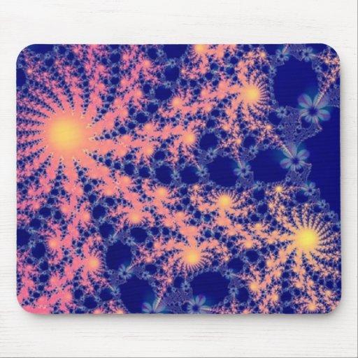 Cojín de ratón de Sun del fractal Alfombrilla De Raton