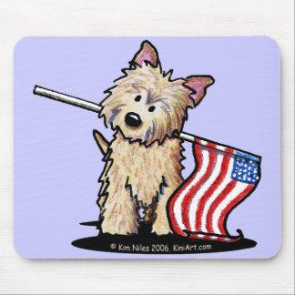 Cojín de ratón de Terrier de mojón de los E.E.U.U. Alfombrilla De Ratones