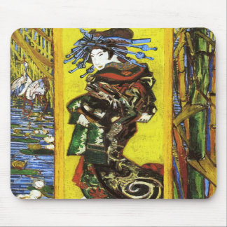 Cojín de ratón de Van Gogh Japonaiserie Oiran Alfombrillas De Ratón