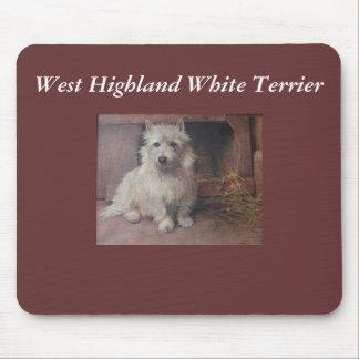 Cojín de ratón de Westie Terrier Tapete De Ratón