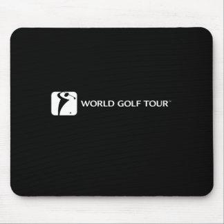 Cojín de ratón de WGT en negro Tapete De Ratón