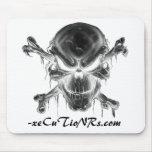 - cojín de ratón de x 001 - cráneo y huesos negati alfombrilla de ratones
