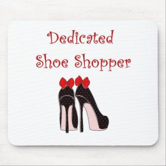 Cojín de ratón dedicado del comprador del zapato tapete de raton