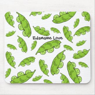 Cojín de ratón del amor de Edamame Tapetes De Raton