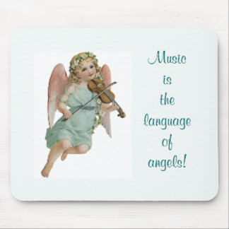 Cojín de ratón del ángel de la música tapete de ratón