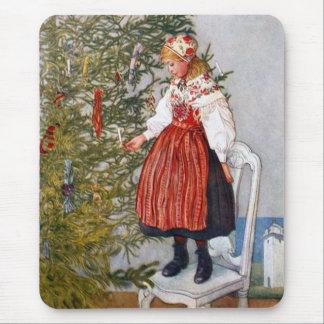 Cojín de ratón del árbol de navidad de Carl Mousepad