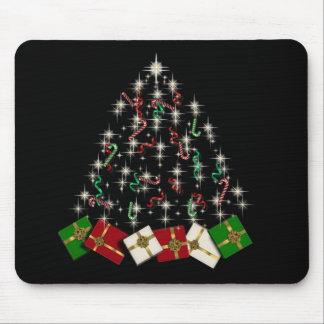 Cojín de ratón del árbol de navidad de los bastone tapetes de ratón