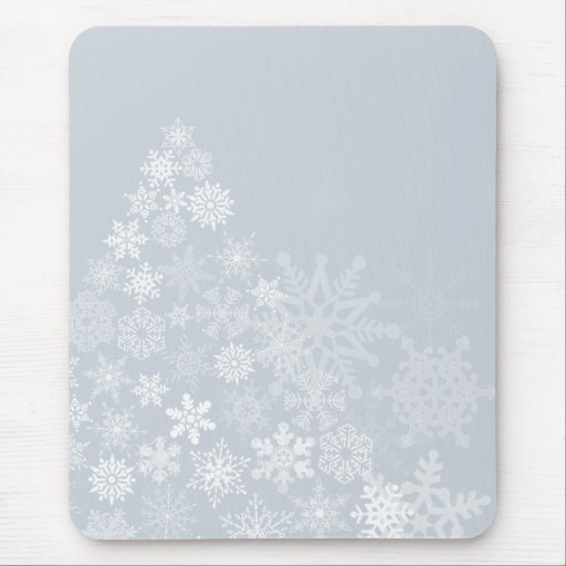 Cojín de ratón del árbol del copo de nieve tapete de raton