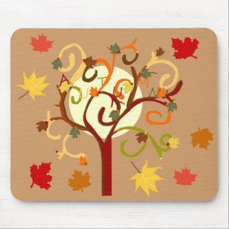Cojín de ratón del árbol del otoño alfombrillas de ratón