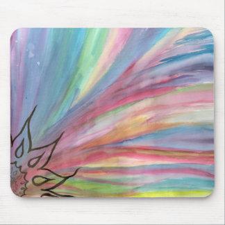 cojín de ratón del arco iris de la buena mañana tapete de raton
