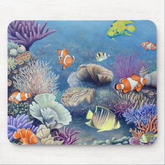 Cojín de ratón del arrecife de coral alfombrilla de raton