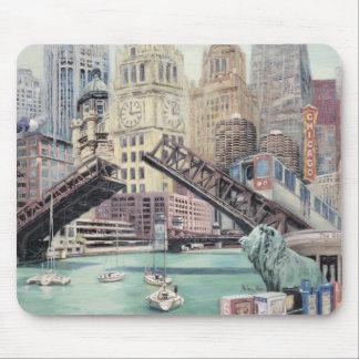 Cojín de ratón del arte de Chicago Tapetes De Raton