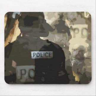 Cojín de ratón del arte de la policía tapete de raton