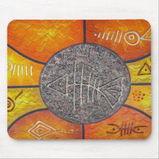 Cojín de ratón del arte de la República Dominicana Tapetes De Ratón