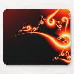 Cojín de ratón del arte del fractal de la luz roja alfombrillas de raton