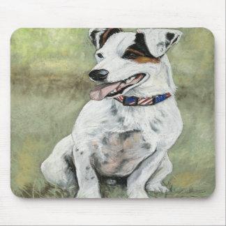Cojín de ratón del arte del perro de Jack Russell  Tapete De Raton
