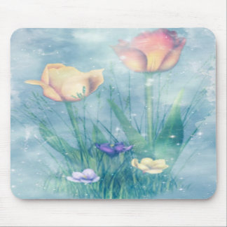 Cojín de ratón del arte del tulipán tapete de ratón