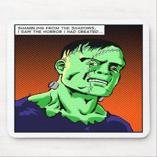 Cojín de ratón del arte pop de Frankenstein Tapetes De Raton