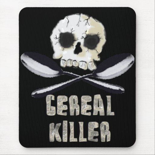 Cojín de ratón del asesino del cereal mousepads