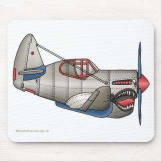 Cojín de ratón del avión de combate del aeroplano  tapete de ratones