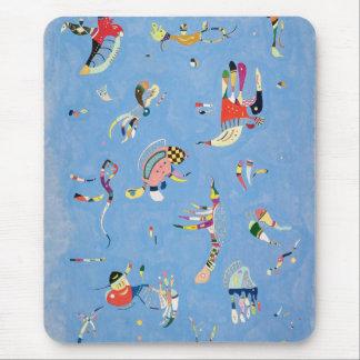Cojín de ratón del azul de cielo de Kandinsky Tapete De Raton