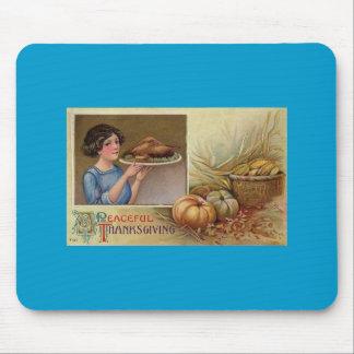 Cojín de ratón del banquete de Thanksgivimg Alfombrilla De Raton