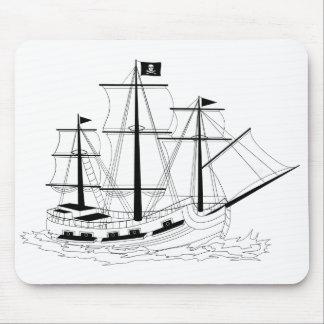 Cojín de ratón del barco pirata alfombrillas de raton