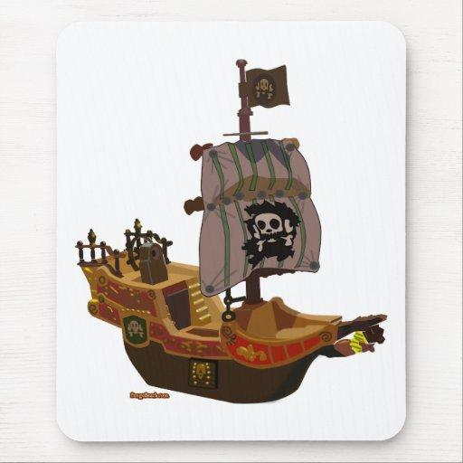 Cojín de ratón del barco pirata alfombrilla de raton