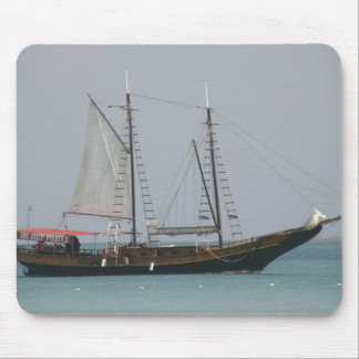 Cojín de ratón del barco pirata tapete de raton